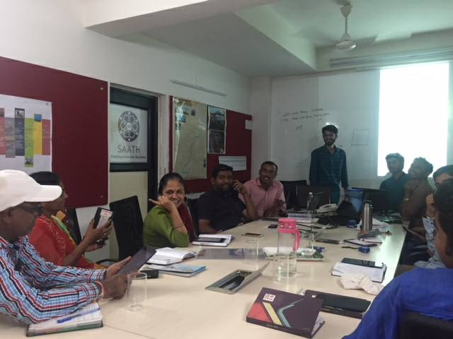 Training session with the SAATH team of surveyors